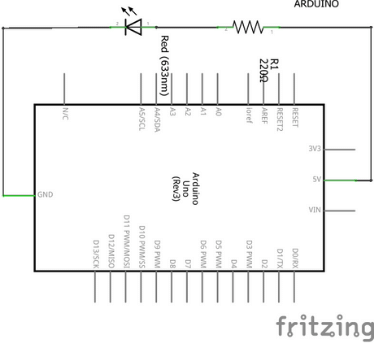 Montagem esquemática do exemplo projeto com Arduino