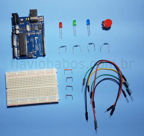 Componentes Elétricos utilizados no projeto de leds