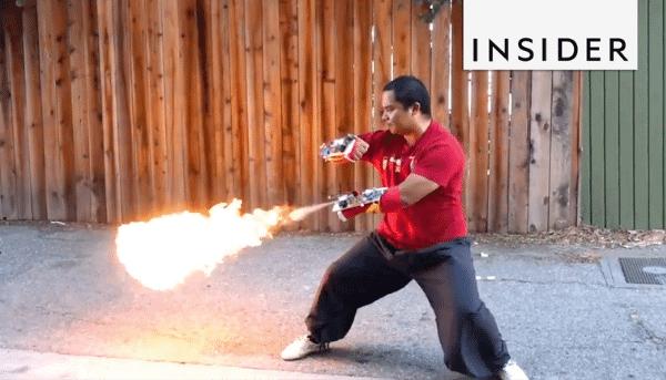 Projeto lança chamas com soco