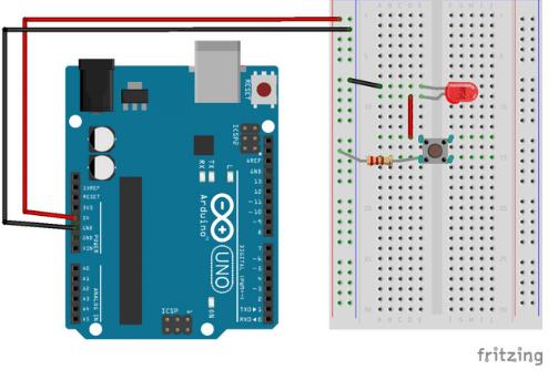 Projeto de led e botão com arduino