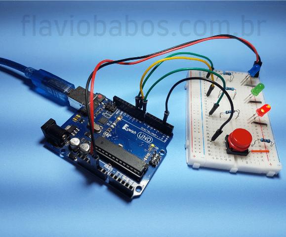 Projeto de LEDs explicando o que é Arduino