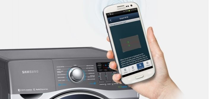 Lavadora inteligente da Samsung