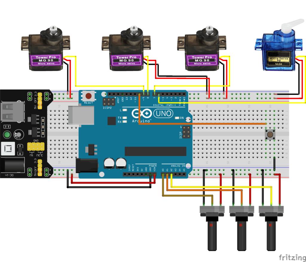 Braço Robótico Arduino e montagem dos componentes