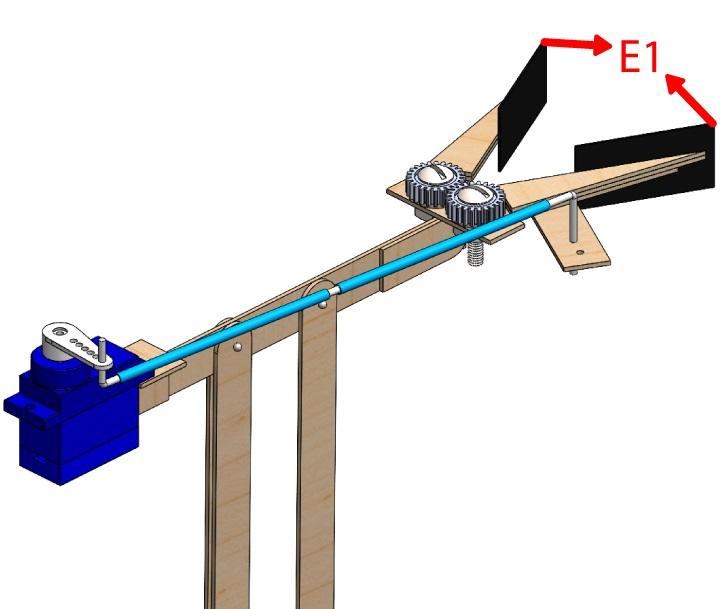 Estrutura final da garra do Braço Robótico Arduino
