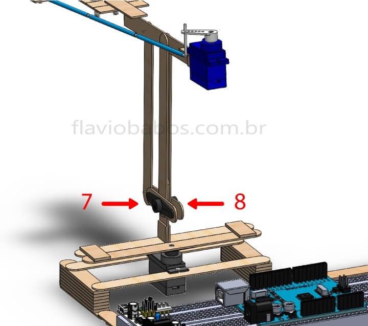 Estrutura de Locomoção Braço Robótico Arduino