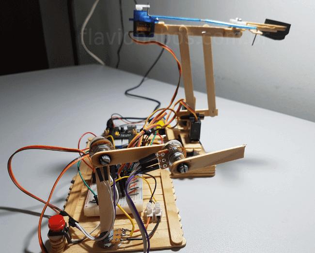 Potenciometros do braço robotico final