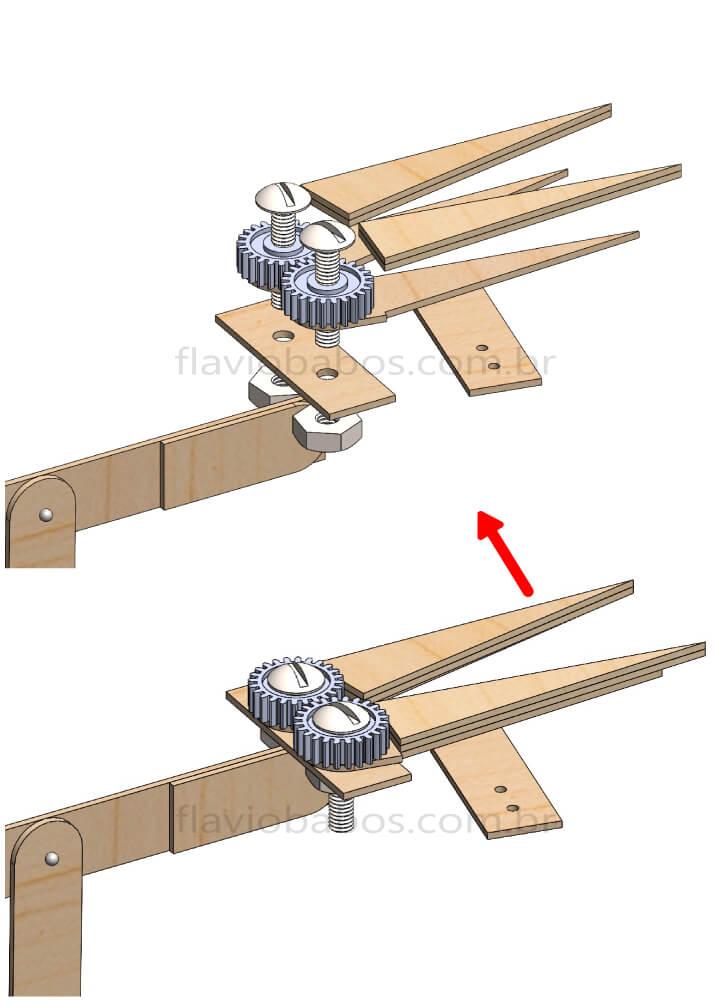 Procedimento de construção da garra do braço robótico