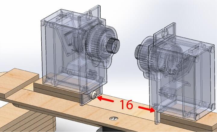 Servos motores de locomoção do Braço Robótico Arduino