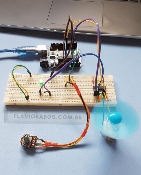 Controle de velocidade Motor DC PWM
