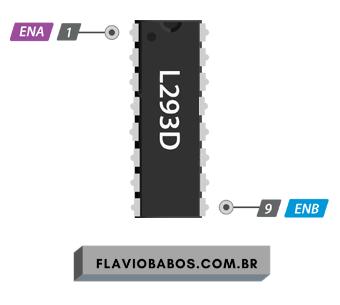 Ponte H controle de velocidade Motor DC Arduino