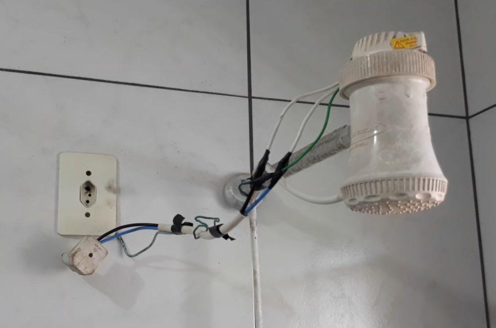 Ligação de chuveiro diretamente na tomada risco de choque eletrico