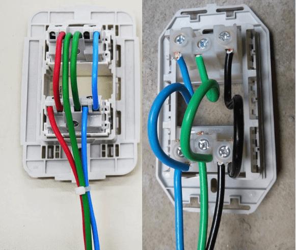 Maneira correta de se ligar tomadas duplas para evitar choque eletrico