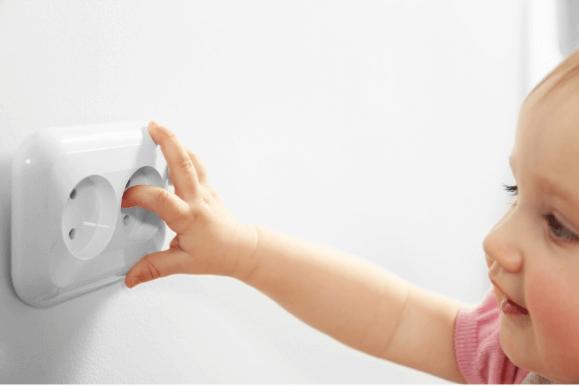 Proteja crianças do choque elétrico