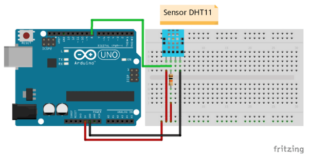 Montagem DHT11 com Arduino