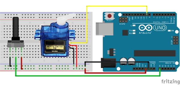 Montagem servo motor com arduino e potenciometro