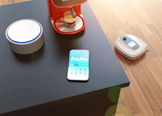 Robô aspirador e cafeteira automatica
