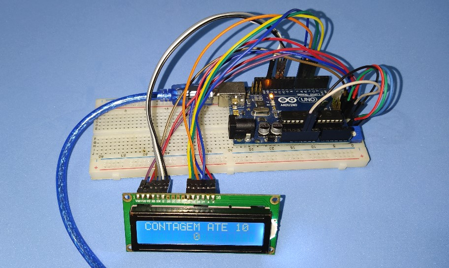 Circuito do display LCD com Arduino