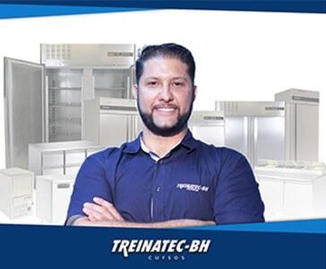 Diogo Rezende da Treinatec-BH no curso de refrigeração comercial
