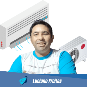Luciano Freitas do curso de ar-condicionado slipt e acj e refrigeração