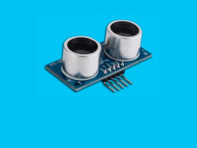 Sensor ultrassonico arduino em um fundo azul