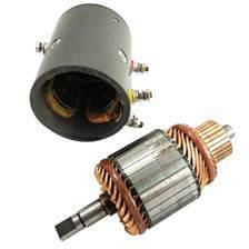O motor desmontado mostrando suas bobinas e sua carcaça