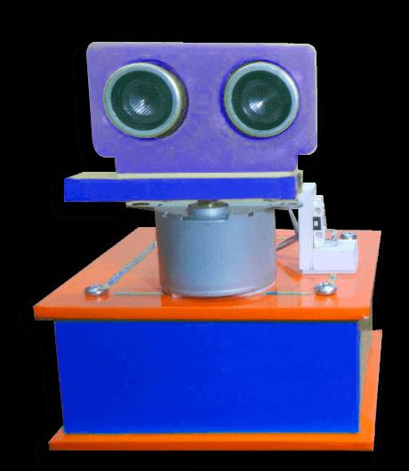 Imagem de projeto de um radar que usa motor de passo arduino e sensor ultrassonico