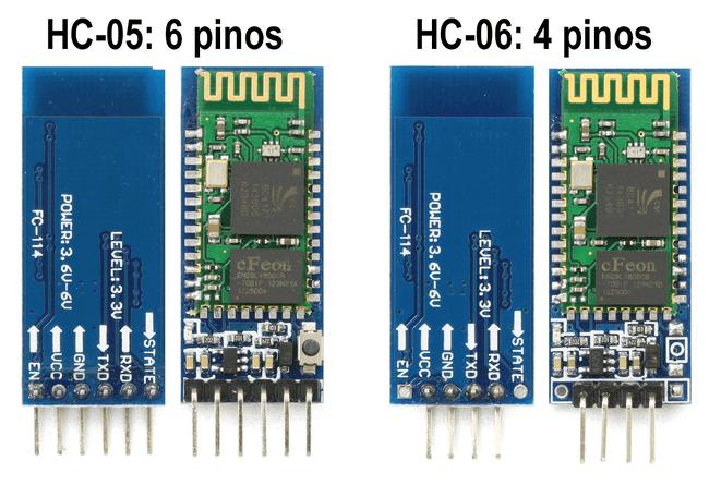 Diferença entre dois módulos bluetooth HC-05 e HC-06