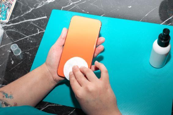 Método de limpeza para dispositivos portáteis